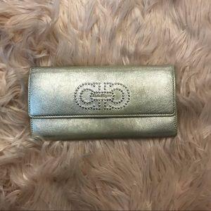 Salvatore Ferragamo, silver toned wallet